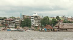 Seaside Of City At Amazon River. Iquitos, Peru Stock Footage