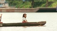 Stock Video Footage of Children in Boat On Amazon River
