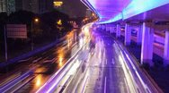 Megacity Highway, Time Lapse Stock Footage
