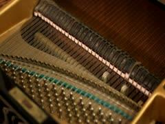 Mechanism inwardly piano Stock Footage