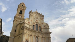 Church in Cervo, Liguria, Italy Stock Footage