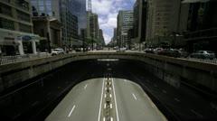 Avenue Paulista timelapse, Sao Paulo Stock Footage