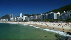 Stock Video Footage of Copacabana Beach in Rio de Janeiro