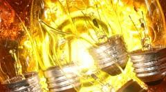Bulb lamp - stock footage