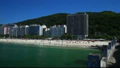Copacabana Beach in Rio de Janeiro Stock Footage