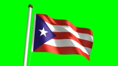 Puerto Rico flag video Stock Footage