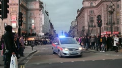Police Car in London, UK Stock Footage