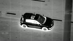 Aerial car surveillance 1/3 Stock Footage