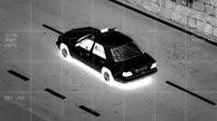 Aerial car surveillance 2/3 Stock Footage