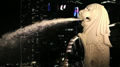 Merlion Singapore Stock Footage