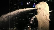 Stock Video Footage of Merlion Singapore