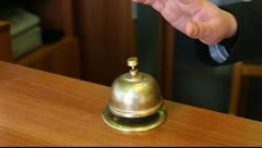 hotel bell - stock footage