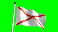 Alabama flag video Stock Footage