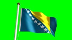 Bosnia Herzegovina flag video Stock Footage