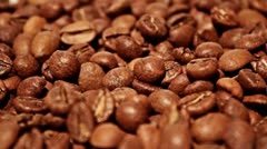 Falling grains of coffee Stock Footage