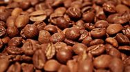 Stock Video Footage of Falling grains of coffee