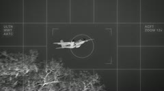 Thermal imaging airplane c-160 Stock Footage