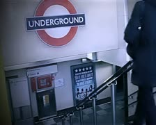 Travellers entering London Underground Pal SD Stock Footage