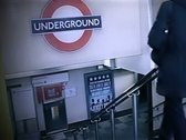 Stock Video Footage of Travellers entering London Underground Pal SD