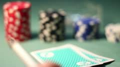 Smoker Poker Player Stock Footage