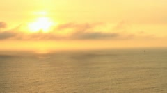 Etherial Sunset Over Ocean Stock Footage