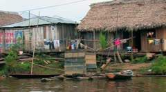Slum Water Village on Amazon - stock footage