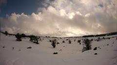 Golan FE snow  0212 3 Stock Footage