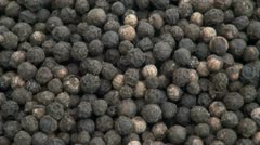 Black Peppercorns Stock Footage