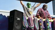 Mardi Gras Parade Float 01 Stock Footage