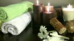 Spa products Stock Footage