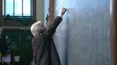 Formula on the board Stock Footage