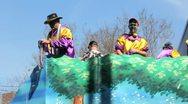 Mardi Gras Parade Float 06 Stock Footage
