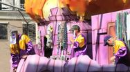 Mardi Gras Parade Float 08 Stock Footage