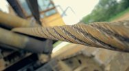 Stock Video Footage of Construction Crane with Steel Cable 1080p