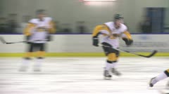 Ice Hockey hit 07 Stock Footage