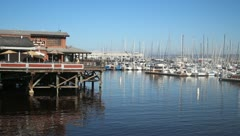 Boats in harbor V1 - HD Stock Footage