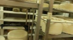 Blue cheese gouda Factory food process parmesan swiss dairy feta france milk - stock footage