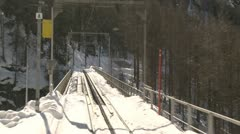 Alpine Mountain Railway Driver's View - stock footage
