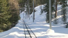 Alpine Mountain Railway Driver's View - stock footage