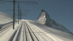 Alpine Mountain Railway Driver's View Stock Footage