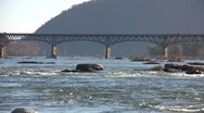 Stock Video Footage of Potomac River Bridge