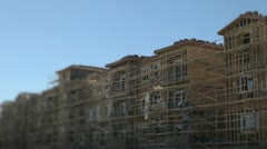 New building construction - stock footage