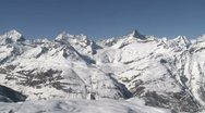 Stunning High Altitude View Of Swiss Alps Stock Footage