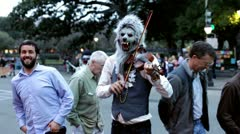 Wolfman playing Violin at Mardi Gras 2012 Stock Footage