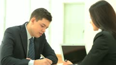 Filling the form - stock footage