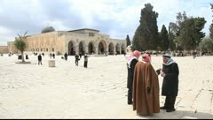Aqsa Mosque Wide Shot Stock Footage
