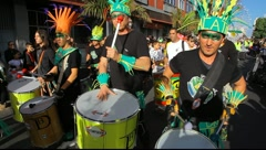 Carnival time! The Gran Cabalgata - The Grand Parade: Drummers - stock footage