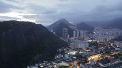 Rio De Janeiro city by night timelapse Stock Footage