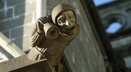 Stock Video Footage of Decorative statue on the Nidaros cathedral in Trondheim, Norway