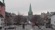 Stock Video Footage of Nidaros cathedral city-MVI 5854